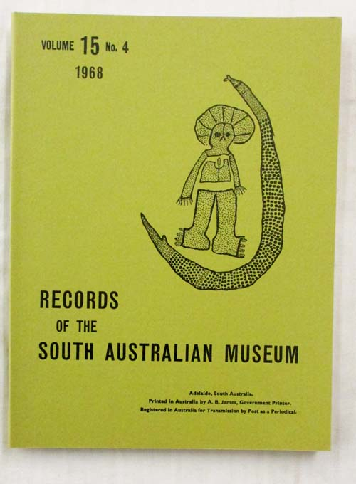 Image for Records of the South Australian Museum Volume 15 No 4, 1968