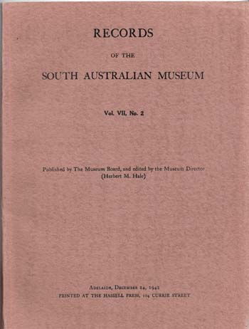 Image for Records of the South Australian Museum Volume VII No 2 December1942