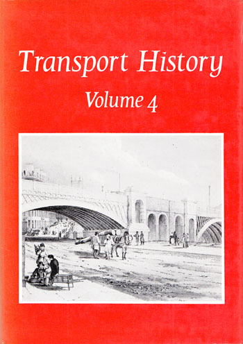 Image for Transport History Volume 4. Volume 4 of the Journal Transport History