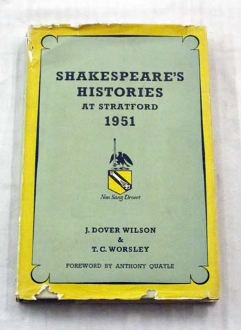 Image for Shakespeare's Histories At Stratford 1951