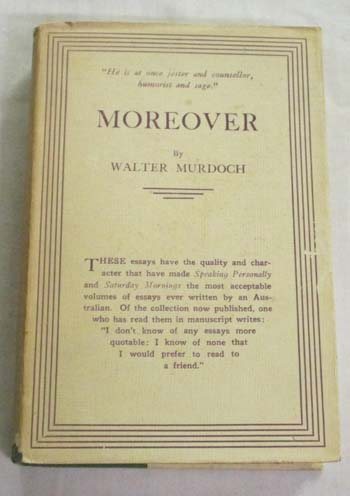 Image for Moreover