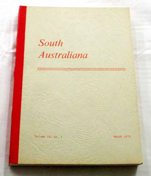 Image for South Australiana Volume 18 No. 1 March, 1979