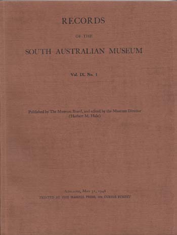 Image for Records of the South Australian Museum Volume IX No 1 (1948)