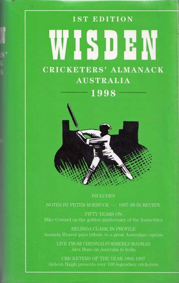 Image for Wisden Cricketers' Almanack Australia 1998