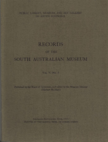 Image for Records of the South Australian Museum Vol V No. 3