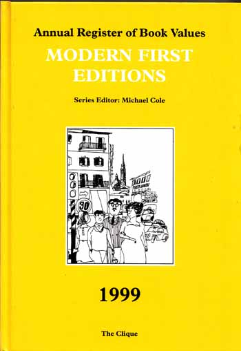 Image for Annual Register of Book Values  MODERN FIRST EDITIONS 1999