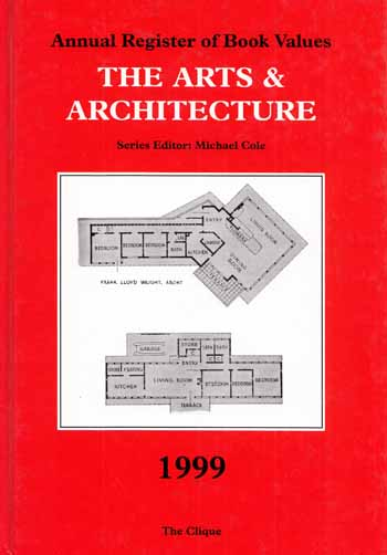 Image for Annual Register of Book Values  THE ARTS AND ARCHITECTURE 1999
