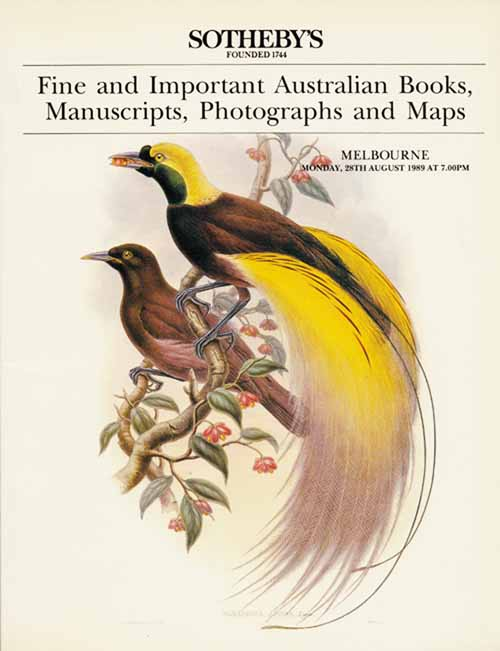 Image for Fine and Important Australian Books, Manuscripts, Photographs and Maps