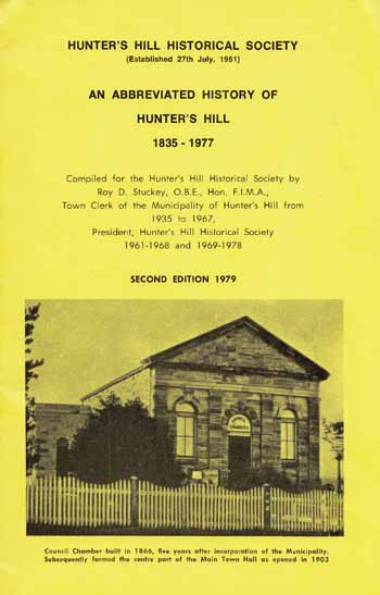 Image for An Abbreviated History of Hunter's Hill 1835-1977