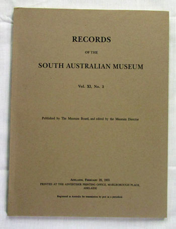 Image for Records Of The South Australian Museum Vol. Xl. No 3