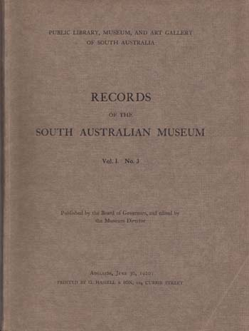 Image for Records Of The South Australian Museum Vol. 1. No 3