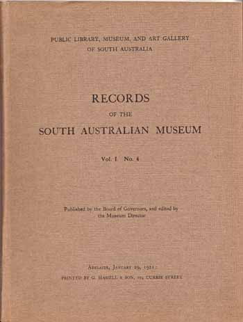 Image for Records Of The South Australian Museum Vol. 1. No 4 1921