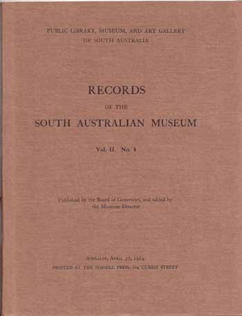 Image for Records of the South Australian Museum Volume II No 4 [1924]