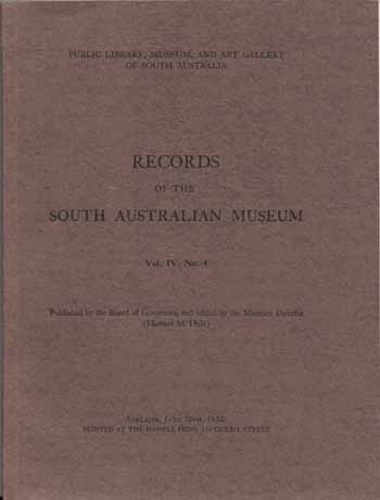 Image for Records of the South Australian Museum Volume IV No 4