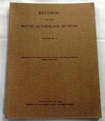 Image for Records of the South Australian Museum Volume VII, No 3, May 30, 1943