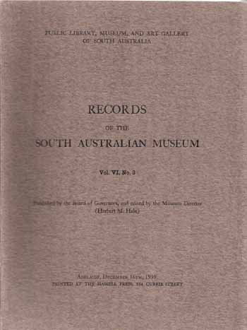 Image for Records of the South Australian Museum Volume VI No 3