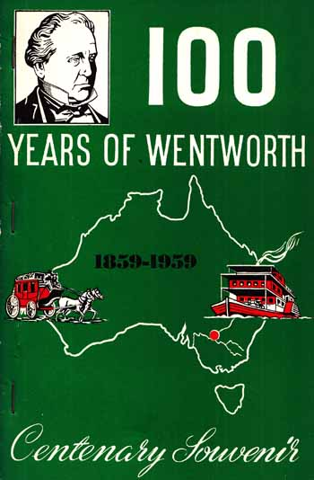 Image for 100 Years of Wentworth 1859-1959 Centenary Souvenir