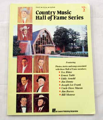 Image for Country Music Hall of Fame Volume 2 Piano Vocal Guitar