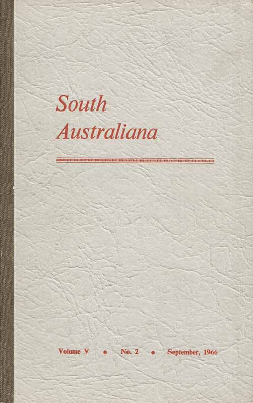 Image for South Australiana Volume V No.2 September 1966