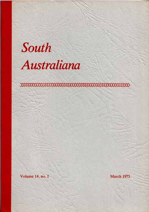 Image for South Australiana. Vol. 14, No. 1. March, 1975