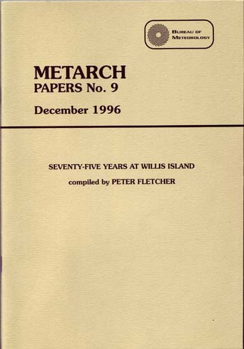 Image for Metarch Papers No. 9 December 1996 Seventy-Five Years at Willis Island