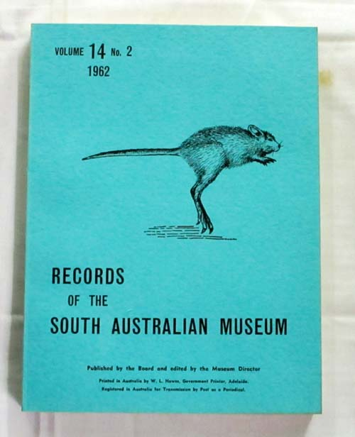 Image for Records of the South Australian Museum Volume 14 No 2 1962