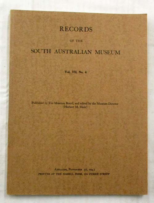 Image for Records of the South Australian Museum Volume VII No 4