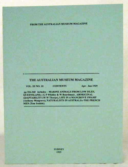 Image for The Australian Museum Magazine Vol III No 10 Apr-June 1929