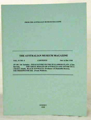 Image for The Australian Museum Magazine Vol IV No 4 Oct to Dec 1930