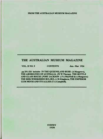 Image for The Australian Museum Magazine Vol II No  9 Jan-Mar 1926