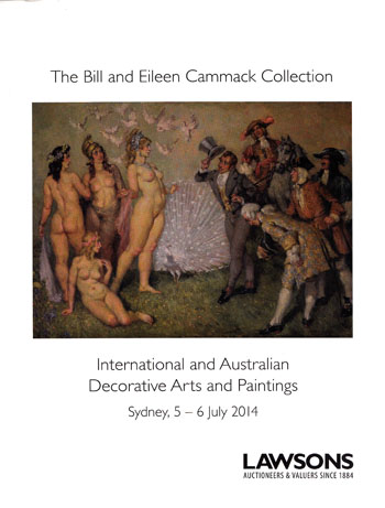 Image for The Bill and Eileen Cammack Collection. International and Australian Decorative Arts and Paintings Sydney, 5-6 July 2014