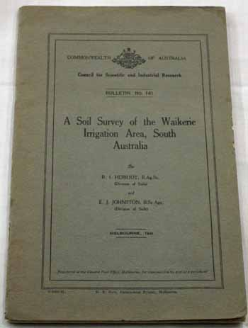 Image for A Soil Survey of the Waikerie Irrigation Area, South Australia