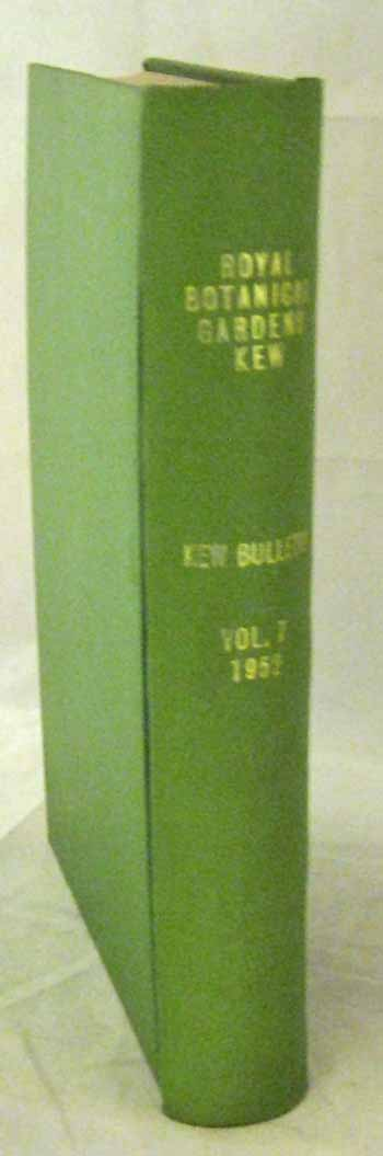 Image for Kew Bulletin 1952  [Volume 7 Parts 1-4]