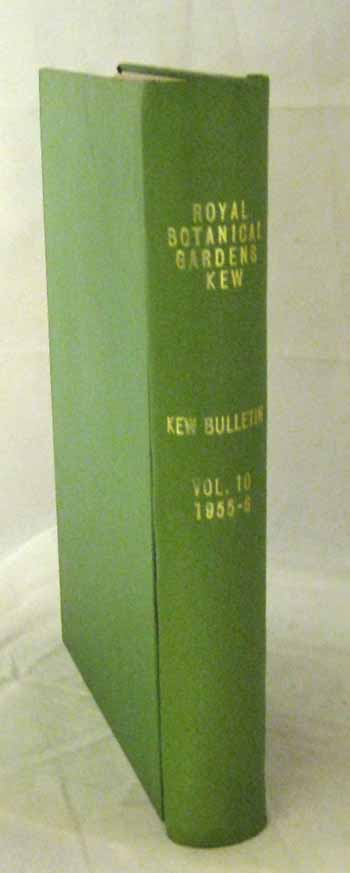 Image for Kew Bulletin 1955  [Volume 10 Parts 1-4]