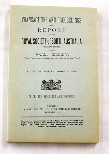 Image for Preliminary Report on the Discovery of Native Remains at Swanport, River Murray; with an Inquiry into the Alleged Occurrence of a Pandemic among the Australian Aboriginals Contained in Transactions Proceedings and Report of the RSSA Vol XXXV 1911