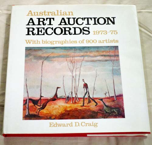 Image for Australian Art Auction Records 1973-75