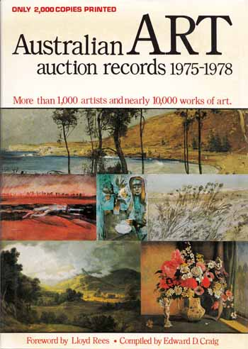 Image for Australian Art Auction Records 1975-1978+