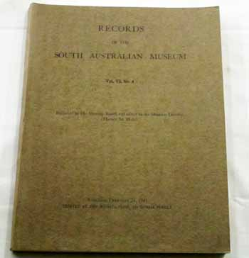Image for Records of the South Australian Museum Volume VI No 4