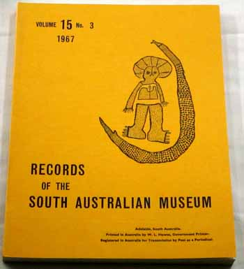 Image for Records of the South Australian Museum Volume 15 No 3