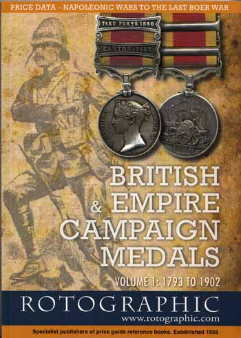 Image for British and Empire Campaign Medals Volume 1: 1793 to 1902