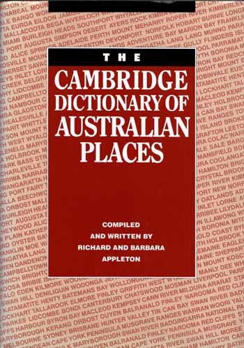 Image for The Cambridge Dictionary of Australian Places