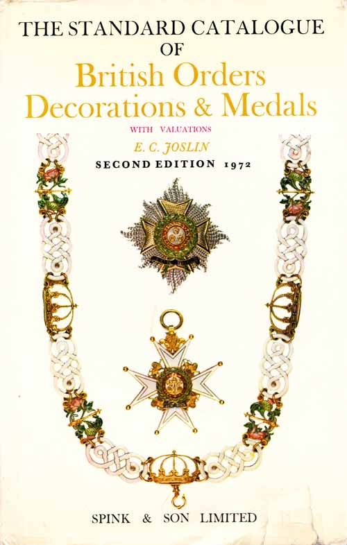 Image for The Standard Catalogue of British Orders Decorations and Medals 1972 with valuations