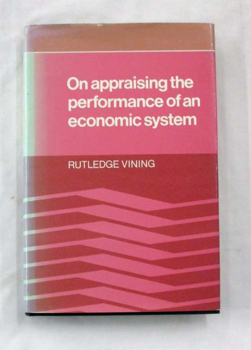 Image for On Appraising the Performance of an Economic System