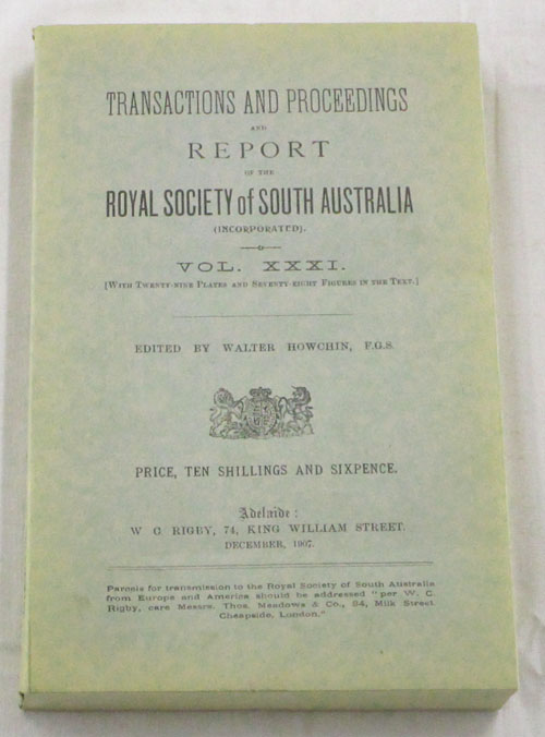 Image for Anthropological Notes on the Western Coastal Tribes of the Northern Territory of South Australia Contained in Transactions and Proceedings and Report of the Royal Society of South Australia Vol XXXI