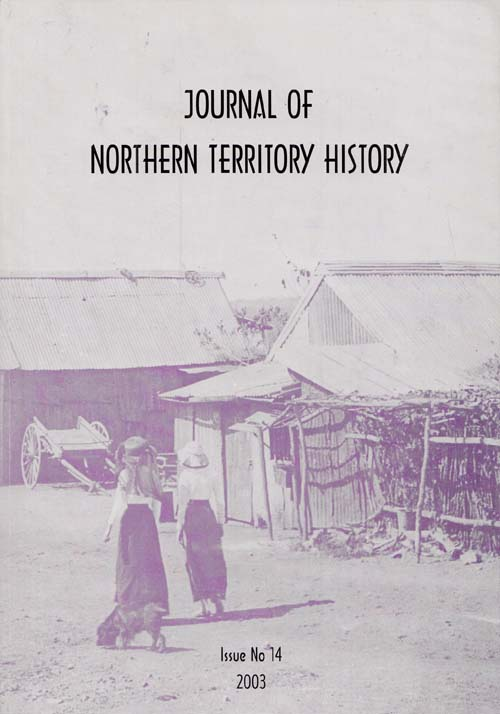Image for Journal of Northern Territory History issue No 14, 2013