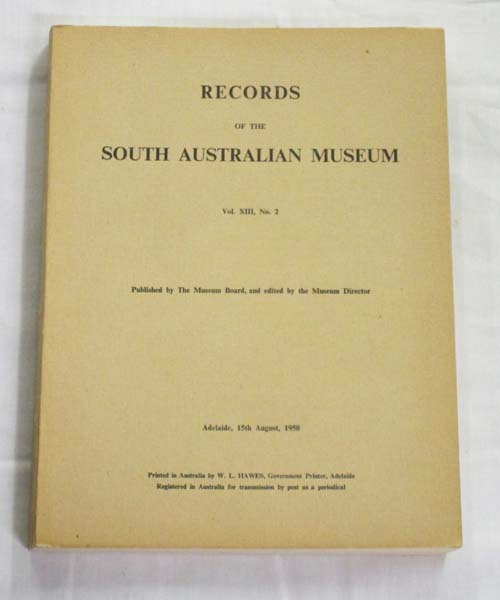 Image for Records of the South Australian Museum Volume XIII No 2