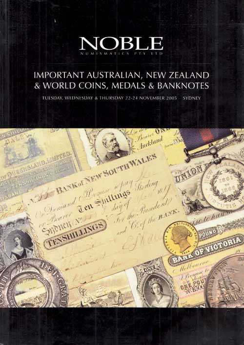 Image for Important Australian, New Zealand & World Coins, Medals & Banknotes