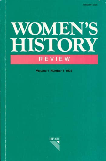 Image for Women's History Review Volume 1 Number 1 1992