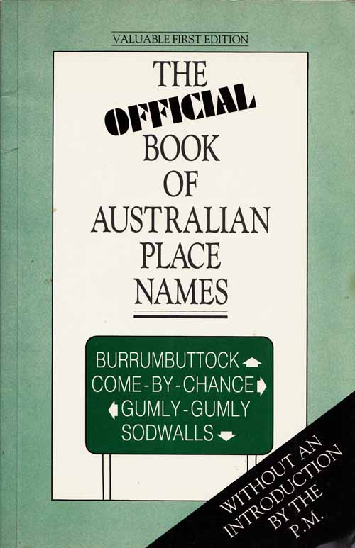 Image for The Official Book of Australian Place Names