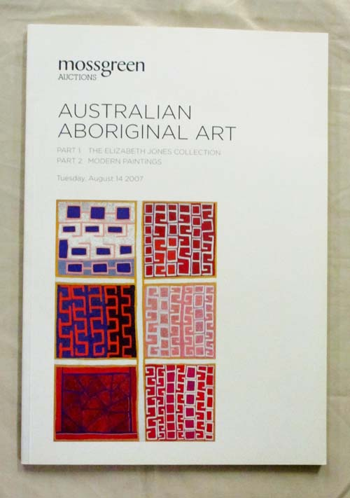 Image for Australian Aboriginal Art Moss Green [Part 1 The Elizabeth Jones Collection & Part 2 Modern Paintings]